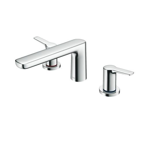 GS Three-Hole Roman Tub Filler Trim - Polished Chrome Finish