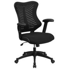 High Back Designer Black Mesh Executive Swivel Chair with Adjustable Arms