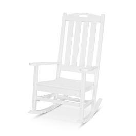 Polywood Furnishings - Nautical Porch Rocking Chair in White