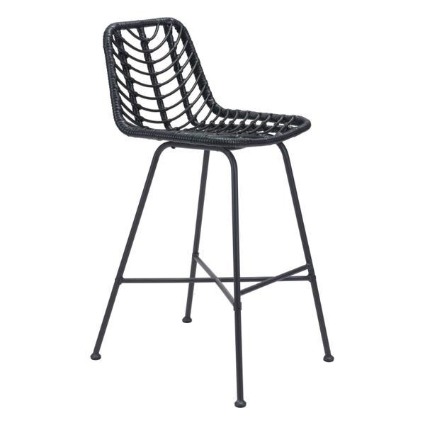 See Details - Malaga Bar Chair Black