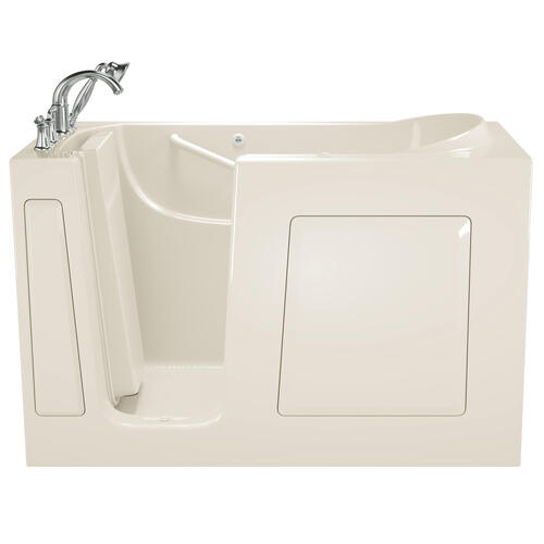 American Standard - Gelcoat Value Series 30 x 60 Inch Walk-in Tub with Whirlpool System  Left Drain  American Standard - Linen