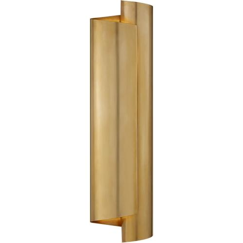 AERIN Iva 3 Light 6 inch Hand-Rubbed Antique Brass Wrapped Sconce Wall Light, Large
