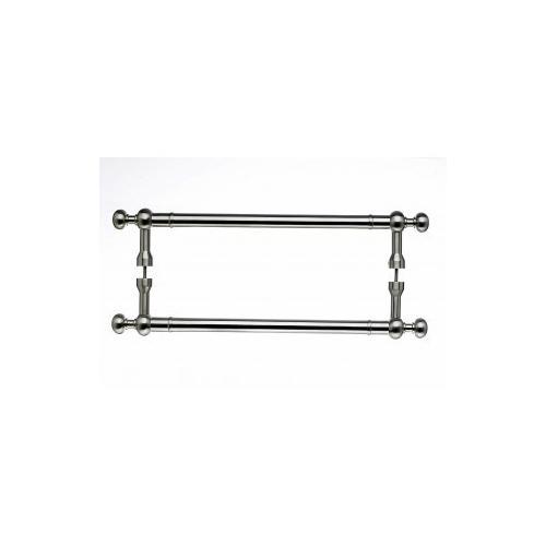 Top Knobs - Somerset Weston Door Pull Back to Back 12 Inch (c-c) - Brushed Satin Nickel