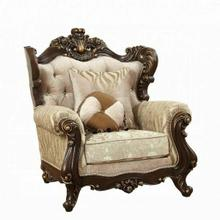 ACME Shalisa Chair w/2 Pillows - 51052 - Fabric & Walnut