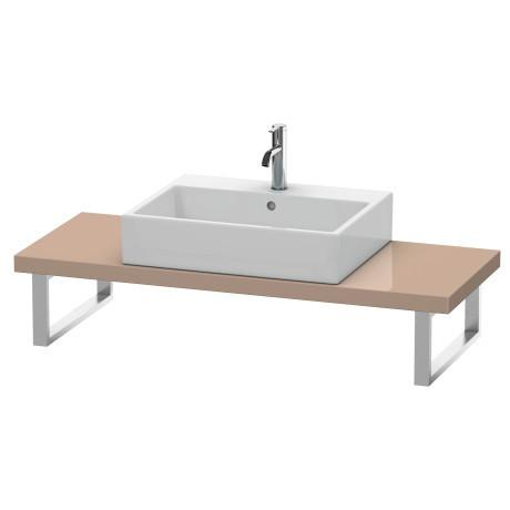 Console For Above-counter Basin And Vanity Basin Compact, Cappuccino High Gloss (lacquer)