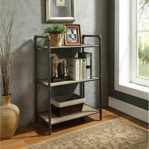 ACME Itzel Bookshelf - 97162 - Antique Oak & Sandy Gray