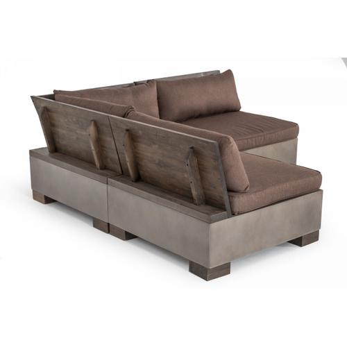 VIG Furniture - Modrest Delaware - Modern Concrete Modular Sectional Sofa Set with Square Coffee Table