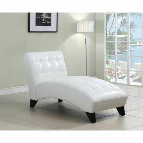 ACME Anna Lounge Chaise - 15037 - White PU