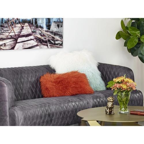 Moe's Home Collection - Lamb Fur Pillow Rect. Orange