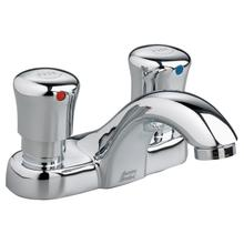 Metering 4-inch Centerset Commercial Faucet - 1.0 gpm - Polished Chrome