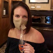 See Details - Happy Hour Reusable Face Mask in Natural Linen