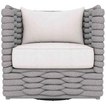 See Details - Wailea Swivel Chair in Knitted Sock Weave in Nordic Gray