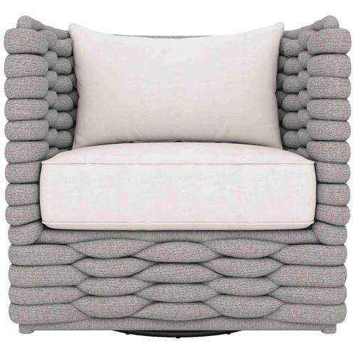 Bernhardt - Wailea Swivel Chair in Knitted Sock Weave in Nordic Gray