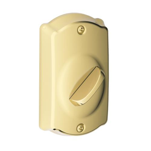 Camelot Trim Keypad Deadbolt - Bright Brass