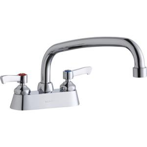 "Elkay 4"" Centerset with Exposed Deck Faucet with 10"" Arc Tube Spout 2"" Lever Handles Product Image"