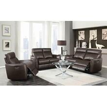 Scranton Casual Dark Brown Power^2 Loveseat