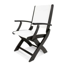 Black & White Coastal Folding Chair