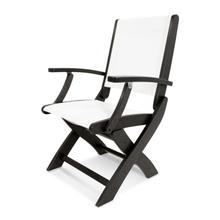 Black & White Coastal Folding Chair