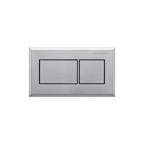 Rectangular Remote flush buttons for Sigma and Omega in-wall toilet systems Metal - Brushed chrome Material - Finish