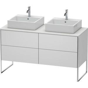 Vanity Unit For Console Floorstanding, White Satin Matte (lacquer)