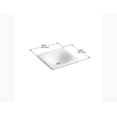 """White 16-3/8"""" X 15-5/8"""" X 5-3/4"""" Drop-in/undermount Bathroom Sink"""