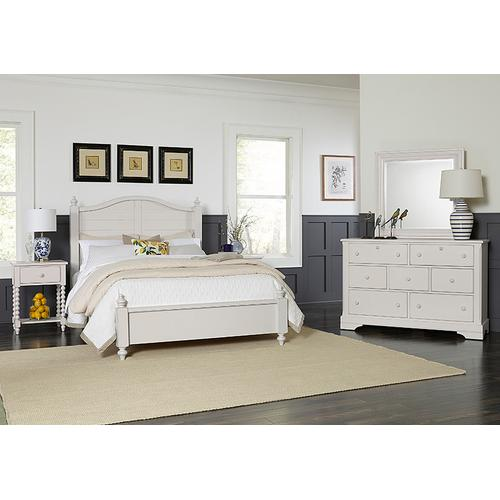 Queen Post Arched Bed with Low Profile Footboard
