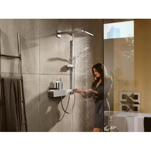 White/chrome Thermostatic Trim 600 for Exposed Installation for 2 Functions