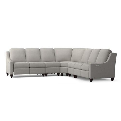 Motion Reclining Fabric L Sectional