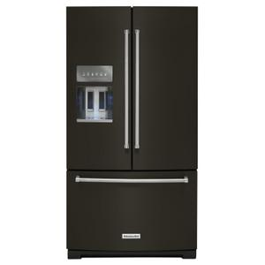 26.8 cu. ft. 36-Inch Width Standard Depth French Door Refrigerator with Exterior Ice and Water and PrintShield Finish Black Stainless Steel with PrintShield™ Finish Product Image