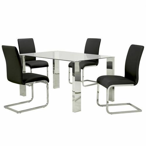 Worldwide Homefurnishings - Frankfurt Rectangular Dining Table in Stainless Steel