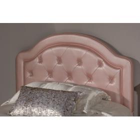 Karley Twin-size Headboard, Pink Faux Leather