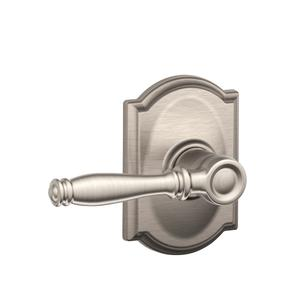 Birmingham Lever with Camelot trim Hall & Closet Lock - Satin Nickel Product Image