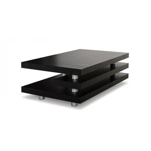 Gallery - A&X Adrian - Modern Multi-Tier Black Oak Coffee Table