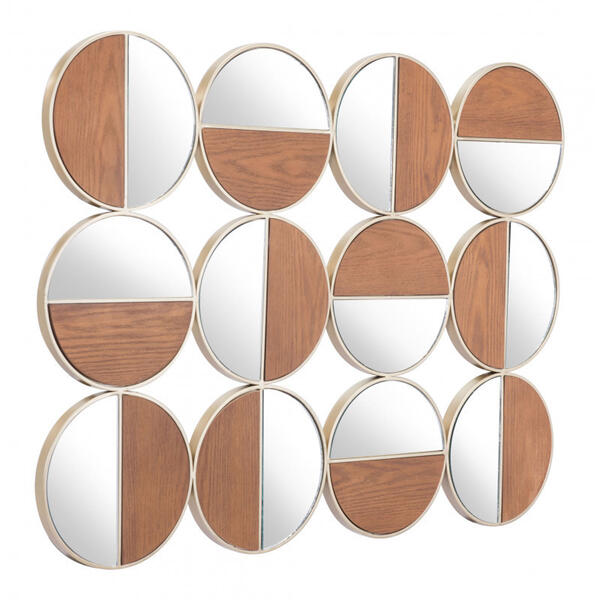 Cycle Round Mirror Multicolor