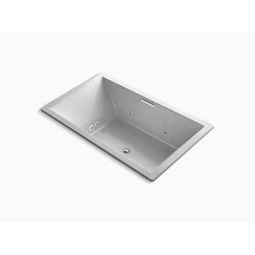 "Ice Grey 72"" X 42"" Heated Bubblemassage Air Bath With Whirlpool, Center Drain"