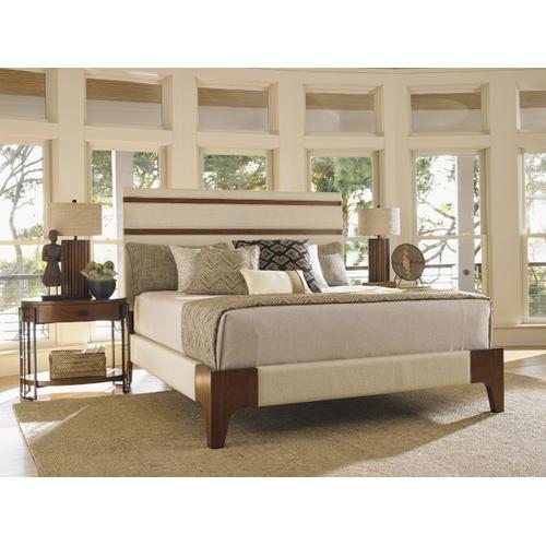 Mandarin Upholstered Panel Bed California King