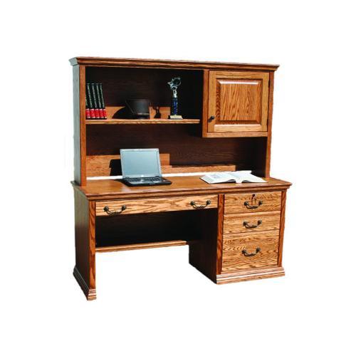"""A-T698 Traditional Alder 57"""" 3-Drawer Computer Desk"""