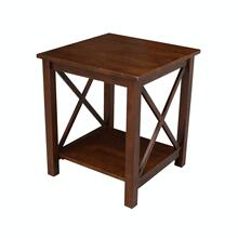 Hampton End Table in Espresso