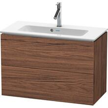 Vanity Unit Wall-mounted Compact, Walnut Dark (decor)