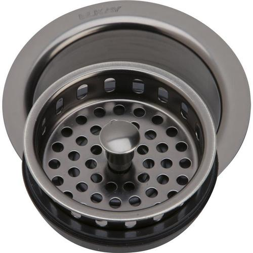 """Elkay - Elkay 3-1/2"""" Drain Fitting Antique Steel Finish Disposer Flange and Removable Strainer"""