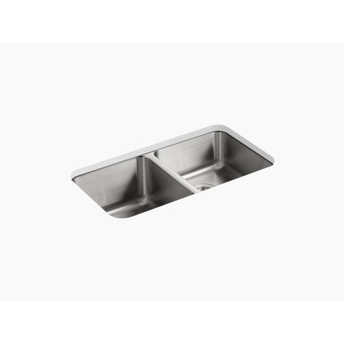 "31-1/2"" X 18"" X 9-3/4"" Undermount Double-equal Kitchen Sink"