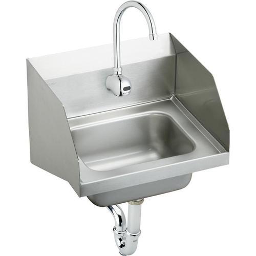 """Elkay - Elkay Stainless Steel 16-3/4"""" x 15-1/2"""" x 13"""", Single Bowl Wall Hung Handwash Sink Kit"""