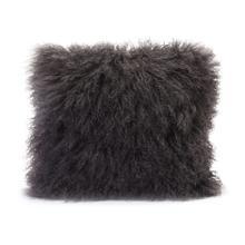 See Details - Lamb Fur Pillow Grey
