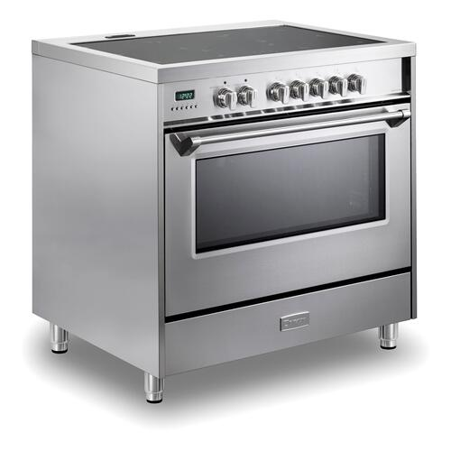 "Stainless Steel 36"" Designer Induction Range"