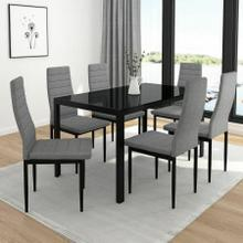 View Product - Contra 7pc Dining Set, Black/Grey