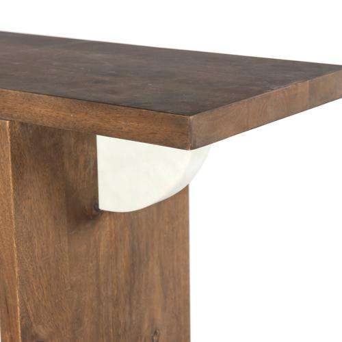 Rowland Console Table-washed Dark Brown