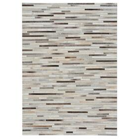 Laramie-Braided Stripe Grey Multi - Rectangle - 5' x 8'