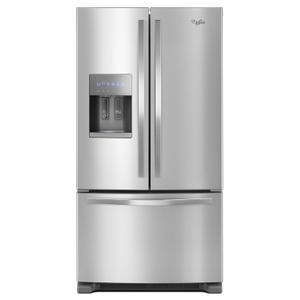 Whirlpool36-inch Wide French Door Refrigerator - 25 cu. ft. Fingerprint Resistant Stainless Steel