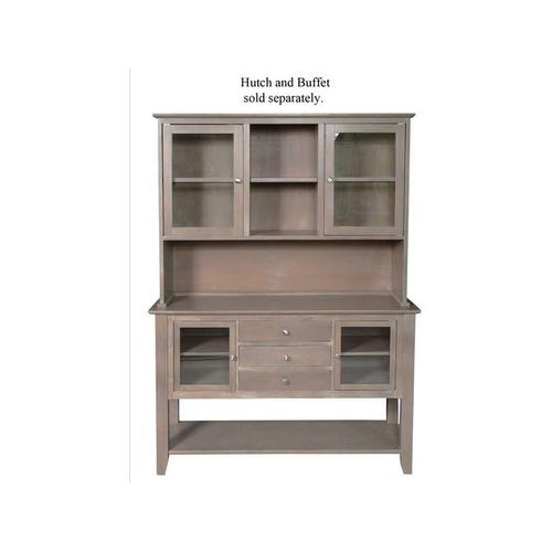 Gallery - Server with Hutch in Taupe Gray