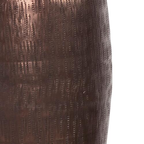 Howard Elliott - Textured Deep Copper Aluminum Pinch pot Votive Holder, Medium